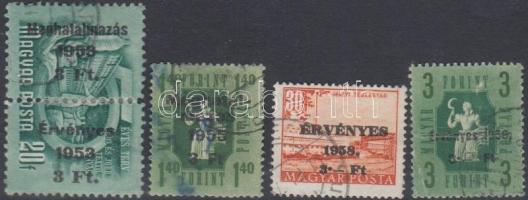 1951-1958 Meghatalmazás + Érvényes 4 klf kiadás (7 000)