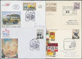 Ausztria 1965-1998 5 db WIPA lap, levél