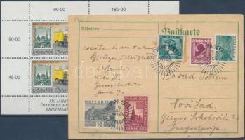 Ausztria 1933 WIPA levél + 2000 WIPA kisív