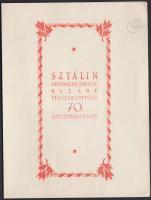1949 Sztálin emléklap