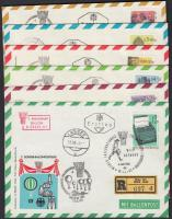 1965 WIPA 6 db ballonposta levél