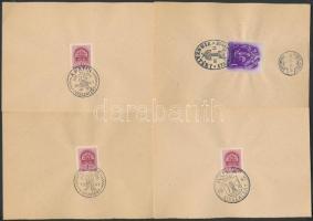 1941 15 db VISSZATÉRT bélyegzés lapokon