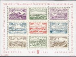 Ausztria 1965 WIPA levélzáró kisív