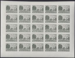 Böhmen und Mahren 1943 Theresienstadt csomagbélyeg vágott kisív reprint