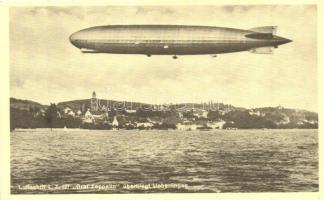 Luftschiff L.Z. 127. Graf Zeppelin überfliegt Überlingen