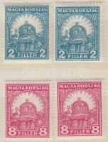 1928 Pengő fillér 2x2f, 2x8f (7.400)