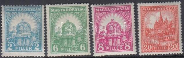 1926 4 db Pengő-fillér bélyeg