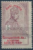 1914 Hadisegély 5K (papírelvékonyodás)