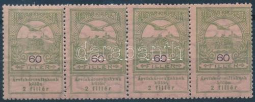 1913 Árvíz 60f négyescsík (6.000)