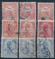 1908-1909 3x50f, 3x1K, 3x2K