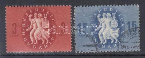 1946 Köztársaság 2 db lemezhiba