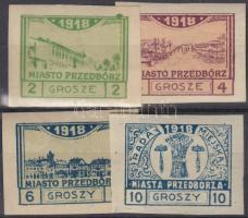 1918 Przedborz 4 érték (Mi EUR 280,-)