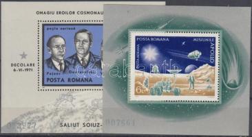 1971-1972 2 klf Űrkutatás blokk