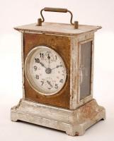 XIX. sz második fele:Utazóóra, ébresztő funkcióval. Működő állapotban, kissé kopott borítással. / Second half of the XIXth century. Travellers watch with alarm,