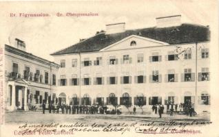 Felsőlövő, Oberschützen; Evangélikus főgimnázium, kiadja Kirnbauer Ottó / Evangelical school