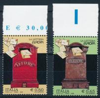 2008 Europa CEPT: Levél ívszéli sor Mi 3240-3241