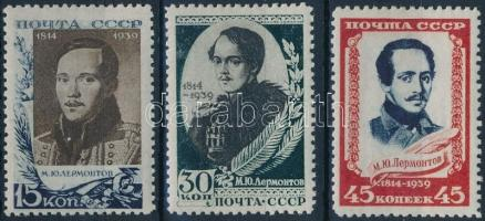 1939 125 éve született Lermontov sor Mi 726-728