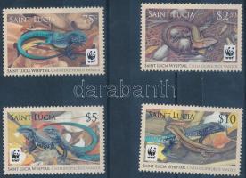 WWF Sand lizard of St. Lucia set, WWF: St. Lucia-i fürge gyík sor