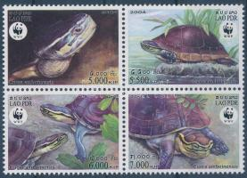 WWF Turtles set block of 4, WWF: Teknősök sor négyestömbben