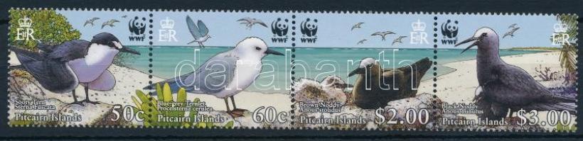 WWF Seabirds set stripe of 4, WWF: Tengeri madarak sor négyescsíkban