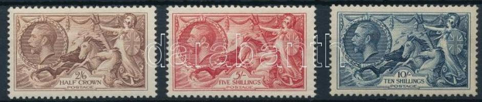 1934 Forgalmi sor Mi 186-188 (10Sh gumihiba / gum disturbance)