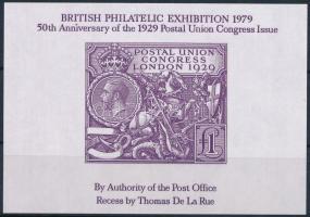1979 Nemzetközi bélyeg kiállítás emlékív