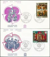 Europa CEPT, paintings set 2 FDC, Europa CEPT, Festmény sor 2 db FDC-n