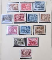 1950-1970 Magyar gyűjtemény jobb kiadásokkal, sok postatisztával, egyes kiadások postatisztán és bélyegezve. Magas katalógus érték!! / Collection with better issues, a lot of mint never hinged sets and blocks, in a lot of cases both MNH and used, in Schaubek album. High catalog value.
