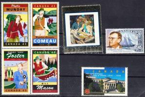 7 stamps, 7 db klf bélyeg, közte teljes sor