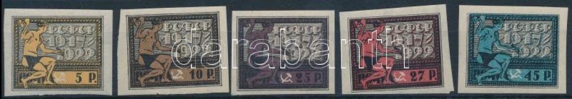 1922 Az Októberi Forradalom 5. évfordulója Mi 195-199 x