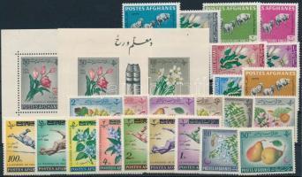1961-1963 23 klf bélyeg + 2 klf blokk