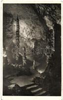 Aggtelek, Jósvafő, cseppkőbarlang, Tilalomfa a Paradicsomban, érdekes szöveggel (EK)