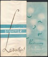 cca 1930-40 Stühmer papírzacskó, jó állapotban, 2db, cca 24x12cm