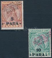 Shkodra 1915 Szkander bég felülnyomott sor 3 értéke Mi 1b-2
