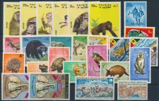 Animals ~1967-1973 26 stamps, Állat motívum ~1967-1973 26 klf bélyeg, közte sorok