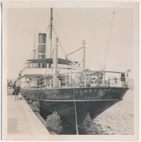 cca 1930-40 Tordenskjöld gőzős, fotó, 12x12cm