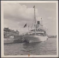 cca 1930-40 Estonia gőzős, fotó, 12x12cm