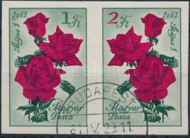 1961 Május 1. (VIII.) vágott összefüggő pár (4.000)