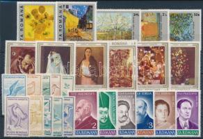 1990-1991 27 stamps, 1990-1991 27 klf bélyeg, közte sorok