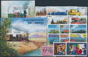 Railway 1957-1998 26 + 3 blocks, Vasút motívum 1957-1998 26 klf bélyeg + 3 klf blokk