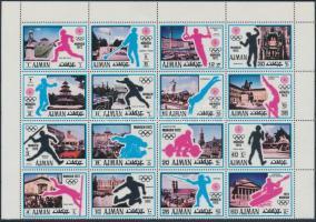 Olympics, sport 1971-2002 2 stamps, one block of 4 + 1 block, Olimpia, sport motívum 1971-2002 2 klf bélyeg, egy 16-os tömb és egy blokk
