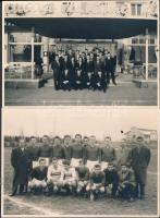 1956 Ifi válogatott futballista csapat (Gelei, Kovács, Nemes, Pázmándi, stb.) Locarno-ban, fotó W. Tannaz, 3db, verzón ragasztósak, 10x14cm