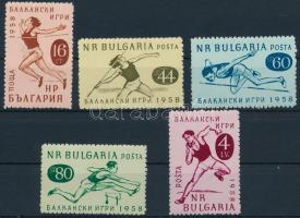 1958 Balkáni sportverseny sor Mi 1088-1092