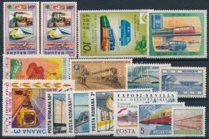 Railway 1962-2011 18 stamps + 2 mini sheets + 1 block, Vasút motívum 1962-2011 18 klf bélyeg + 2 klf kisív + 1 blokk