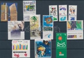 12 diff stamps with tab, 12 klf tabos bélyeg