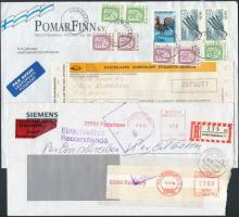 Nyugat-Európa 15 db levél Magyarországra küldve, közte légi, ajánlott, expressz, stb