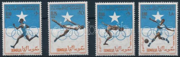 1964 Nyári olimpia sor Mi 60-63 + blokk 1