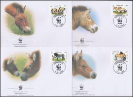 2000 WWF: Lovak sor 4 db FDC-n Mi 3122-3125