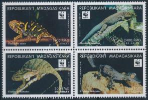 1999 WWF: Hüllők négyestömb Mi 2313-2316