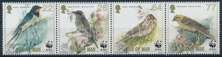 2000 WWF Énekesmadarak sor négyescsíkban Mi 860-863